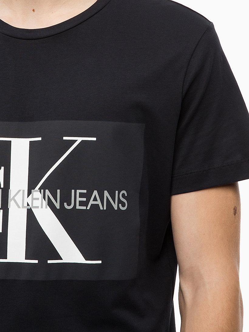 CALVIN KLEIN JEANS Slim Logo T-shirt - GREY HEATHER - CALVIN KLEIN JEANS MEN - detail image 3