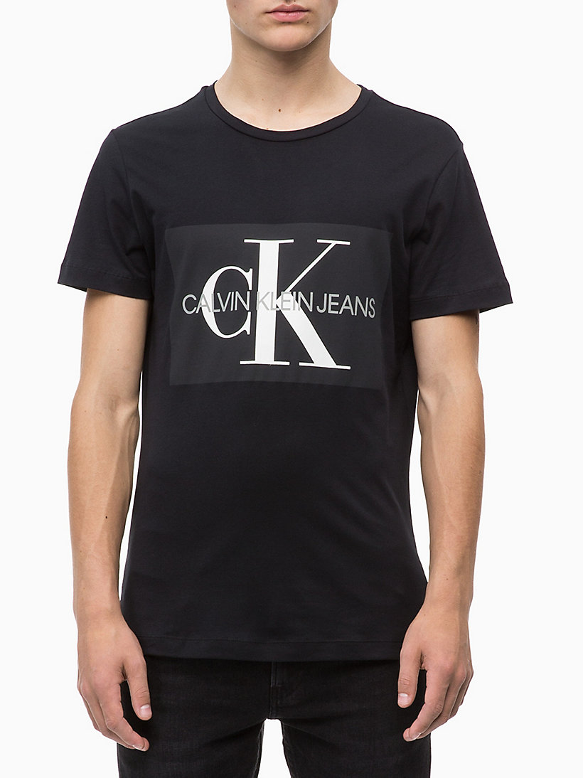 CALVIN KLEIN JEANS Slim Logo T-shirt - GREY HEATHER - CALVIN KLEIN JEANS MEN - main image
