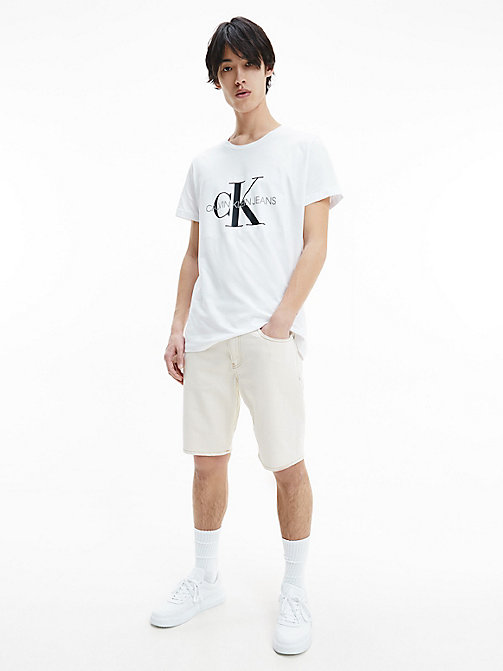 Schmales Logo-T-Shirt - BRIGHT WHITE - CALVIN KLEIN JEANS NEW IN - main image 1