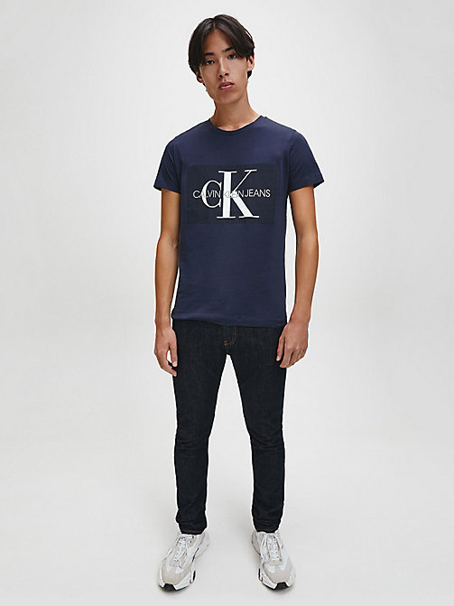CALVIN KLEIN JEANS Slim Logo T-shirt - NIGHT SKY - CALVIN KLEIN JEANS NEW IN - detail image 1