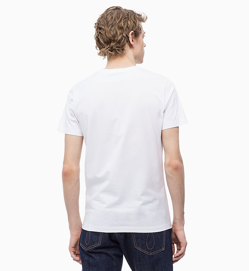 CALVIN KLEIN JEANS Slim Logo T-shirt - BRIGHT WHITE/ JOLLY GREEN - CALVIN KLEIN JEANS MEN - detail image 1