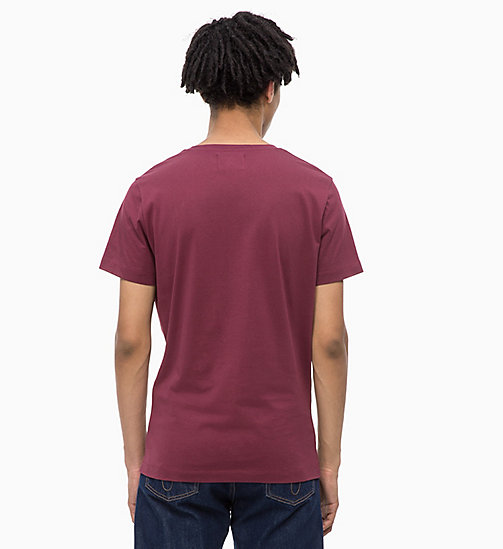CALVIN KLEIN JEANS Slim Fit Logo-T-Shirt - TAWNY PORT/CHAMBRAY - CALVIN KLEIN JEANS NEW IN - main image 1