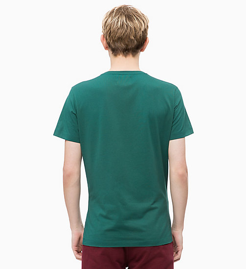 CALVIN KLEIN JEANS Slim Fit Logo-T-Shirt - JUNE BUG/TAWNY PORT - CALVIN KLEIN JEANS LOGO SHOP - main image 1