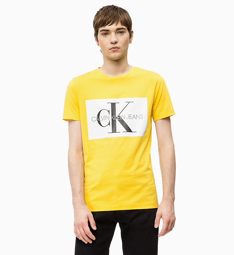 CALVIN KLEIN JEANS Slim Logo T-shirt - ORANGE TIGER 16-1358 TCX - CALVIN KLEIN JEANS MEN - main image