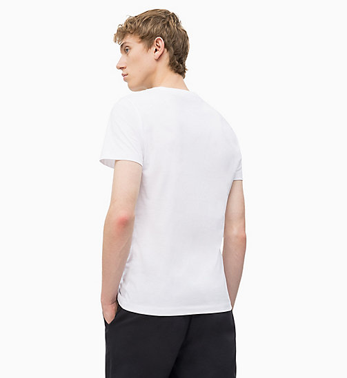 CALVIN KLEIN JEANS Slim Logo T-shirt - BRIGHT WHITE/ JOLLY GREEN - CALVIN KLEIN JEANS NEW IN - detail image 1