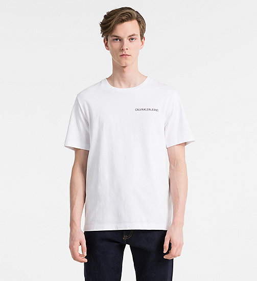 CALVIN KLEIN JEANS Printed T-shirt - BRIGHT WHITE - CALVIN KLEIN JEANS NEW IN - main image