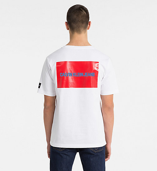 CALVIN KLEIN JEANS Multi Logo T-shirt - BRIGHT WHITE - CALVIN KLEIN JEANS NEW IN - detail image 1