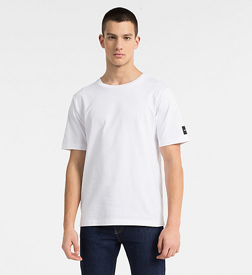 CALVIN KLEIN JEANS Multi Logo T-shirt - BRIGHT WHITE - CALVIN KLEIN JEANS NEW IN - main image