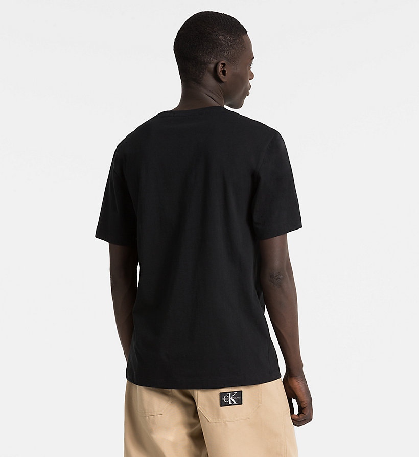 CALVIN KLEIN JEANS Organic Cotton Logo T-shirt - CK BLACK / SURF THE WEB - CALVIN KLEIN JEANS MEN - detail image 1