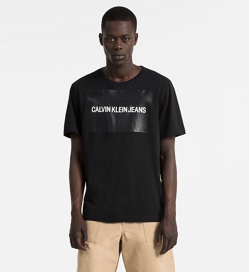 CALVIN KLEIN JEANS Organic Cotton Logo T-shirt - CK BLACK / SURF THE WEB - CALVIN KLEIN JEANS MEN - main image