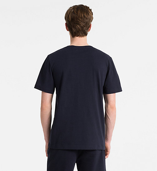CALVIN KLEIN JEANS Organic Cotton Logo T-shirt - NIGHT SKY/BLACK - CALVIN KLEIN JEANS NEW ICONS - detail image 1