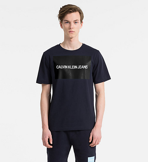 CALVIN KLEIN JEANS Organic Cotton Logo T-shirt - NIGHT SKY / NAUTICAL BLUE - CALVIN KLEIN JEANS LOGO SHOP - main image