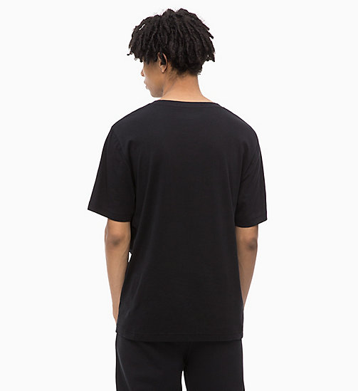 CALVIN KLEIN JEANS Organic Cotton Logo T-shirt - CK BLACK / SURF THE WEB - CALVIN KLEIN JEANS LOGO SHOP - detail image 1
