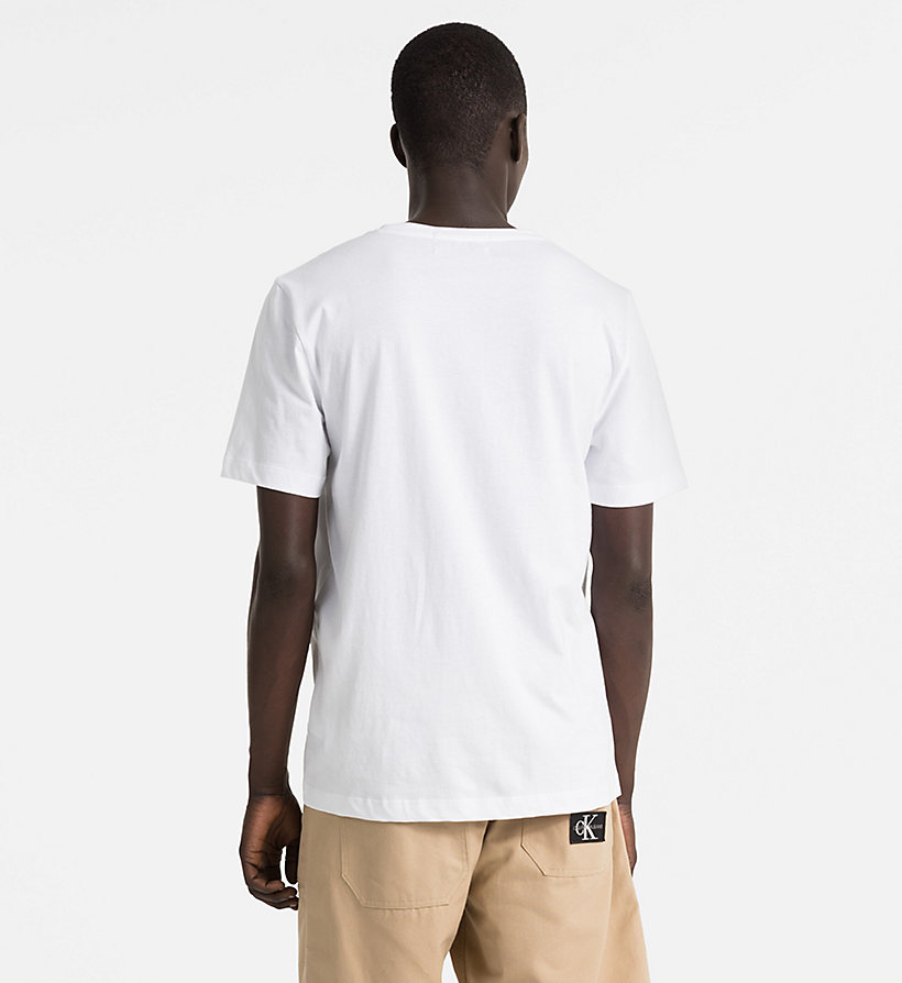 CALVIN KLEIN JEANS Organic Cotton Logo T-shirt - BRIGHT WHITE/NIGHT SKY - CALVIN KLEIN JEANS MEN - detail image 1