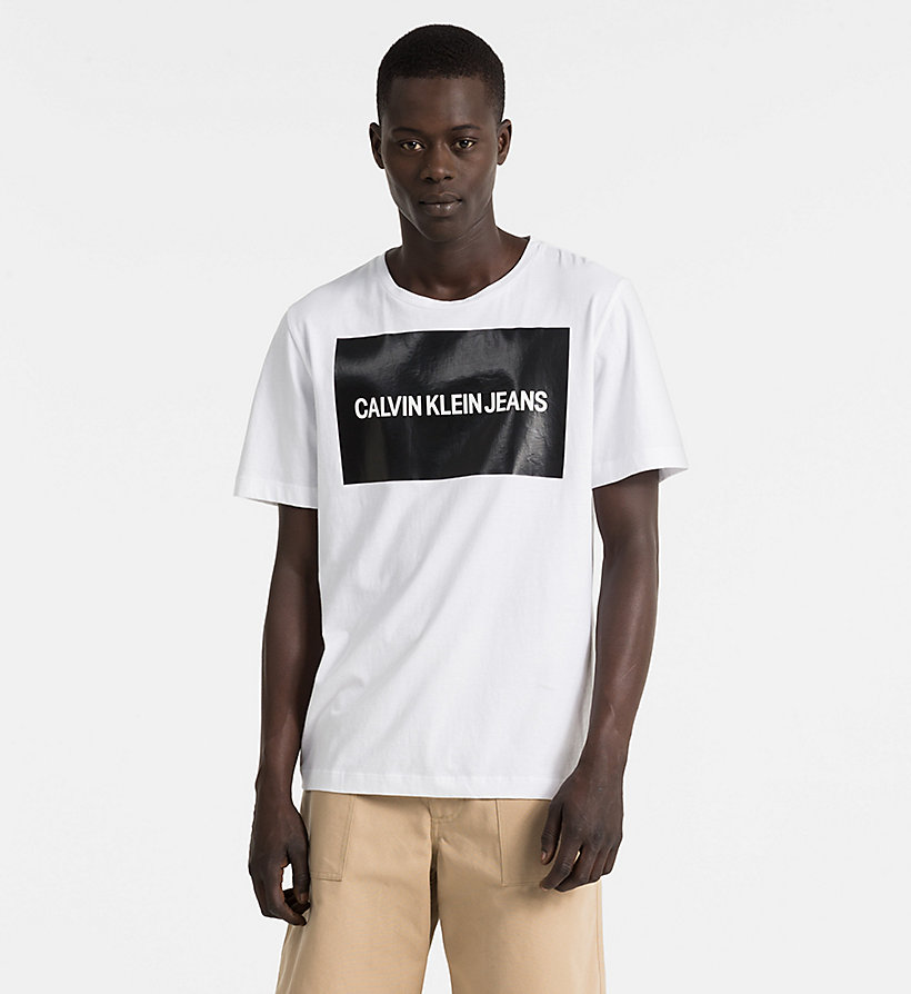 CALVIN KLEIN JEANS Organic Cotton Logo T-shirt - CK BLACK / BRIGHT WHITE - CALVIN KLEIN JEANS MEN - main image
