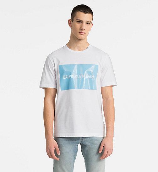 CALVIN KLEIN JEANS Vinyl Logo T-shirt - BRIGHT WHITE - CALVIN KLEIN JEANS  NEW ...