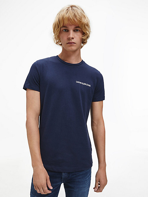 CALVIN KLEIN JEANS Organic Cotton T-shirt - NIGHT SKY - CALVIN KLEIN JEANS HEAT WAVE - main image