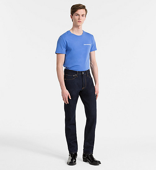 CALVIN KLEIN JEANS Organic Cotton T-shirt - REGATTA - CALVIN KLEIN JEANS NEW IN - detail image 1