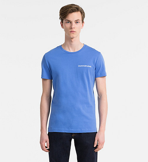 CALVIN KLEIN JEANS Organic Cotton T-shirt - REGATTA - CALVIN KLEIN JEANS NEW IN - main image