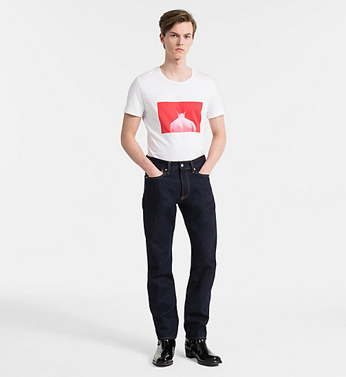 CALVIN KLEIN JEANS Slim Printed T-shirt - BRIGHT WHITE - CALVIN KLEIN JEANS NEW IN - detail image 1