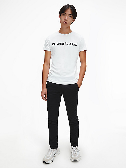 CALVIN KLEIN JEANS Organic Cotton Logo T-shirt - BRIGHT WHITE - CALVIN KLEIN JEANS NEW IN - detail image 1