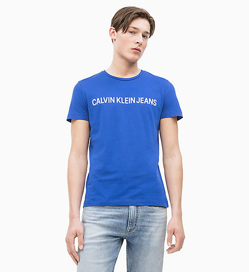CALVIN KLEIN JEANS Slim Organic Cotton Logo T-shirt - SURF THE WEB - CALVIN KLEIN JEANS LOGO SHOP - detail image 1