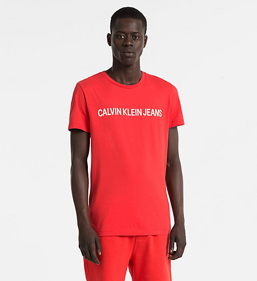 CALVIN KLEIN JEANS Slim Organic Cotton T-shirt - TOMATO - CALVIN KLEIN JEANS NEW IN - main image