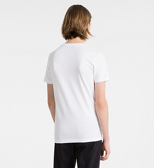 CALVIN KLEIN JEANS V-Neck Logo T-shirt - BRIGHT WHITE - CALVIN KLEIN JEANS NEW IN - detail image 1