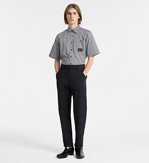 CALVIN KLEIN JEANS Oversized Short-Sleeve Gingham Shirt - CK BLACK - CALVIN KLEIN JEANS NEW IN - detail image 1
