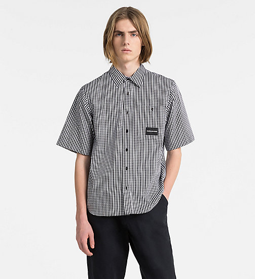 CALVIN KLEIN JEANS Oversized Short-Sleeve Gingham Shirt - CK BLACK - CALVIN KLEIN JEANS CLOTHES - main image