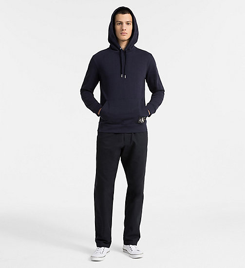 CALVIN KLEIN JEANS Cotton Terry Hoodie - NIGHT SKY - CALVIN KLEIN JEANS NEW IN - detail image 1