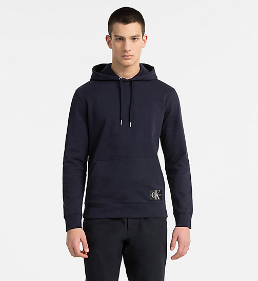 CALVIN KLEIN JEANS Cotton Terry Hoodie - NIGHT SKY - CALVIN KLEIN JEANS NEW IN - main image