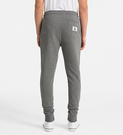 CALVIN KLEIN JEANS Logo Jogging Pants - GREY HEATHER - CALVIN KLEIN JEANS CLOTHES - detail image 1