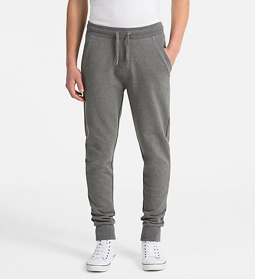 CALVIN KLEIN JEANS Logo Jogging Pants - GREY HEATHER - CALVIN KLEIN JEANS NEW IN - main image