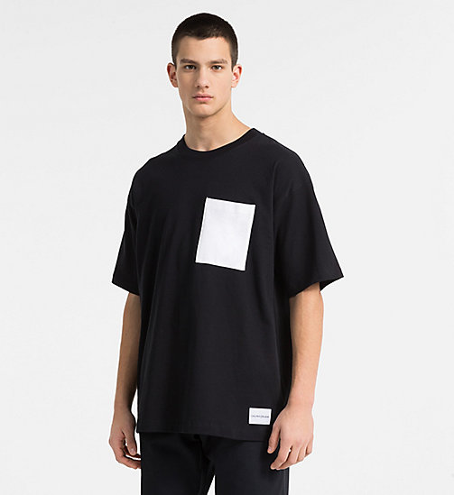 CALVIN KLEIN JEANS Oversized Contrast Pocket T-shirt - CK BLACK - CALVIN KLEIN JEANS NEW IN - main image