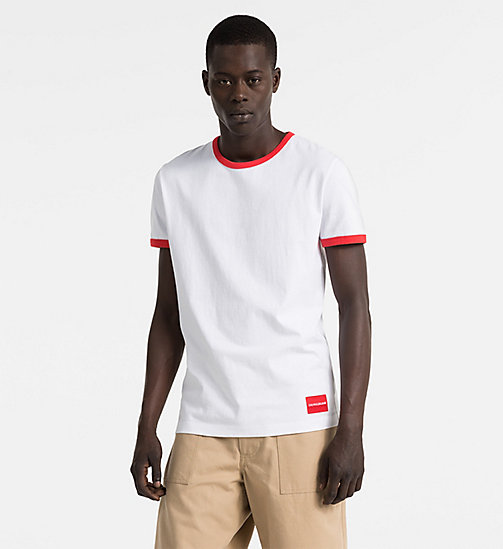 CALVIN KLEIN JEANS Slim Authentic Ringer T-shirt - BRIGHT WHITE - CALVIN KLEIN JEANS CLOTHES - main image