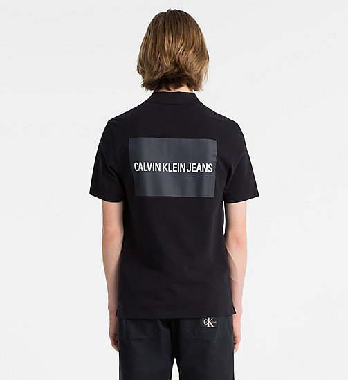 CALVIN KLEIN JEANS Cotton Piqué Logo Polo - CK BLACK - CALVIN KLEIN JEANS PACK YOUR BAG - detail image 1