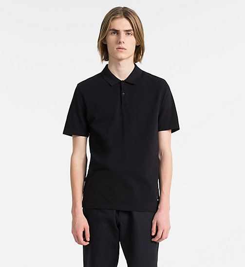 CALVIN KLEIN JEANS Cotton Piqué Logo Polo - CK BLACK - CALVIN KLEIN JEANS PACK YOUR BAG - main image