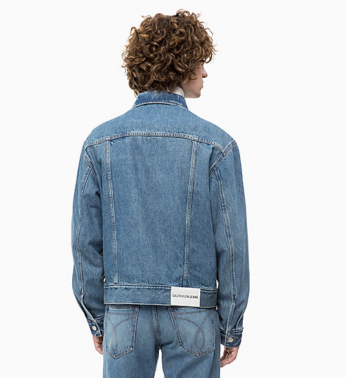 CALVIN KLEIN JEANS Denim Trucker Jacket - LYON BLUE - CALVIN KLEIN JEANS NEW IN - detail image 1