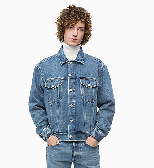 CALVIN KLEIN JEANS Denim Trucker Jacket - LYON BLUE - CALVIN KLEIN JEANS NEW ICONS - main image