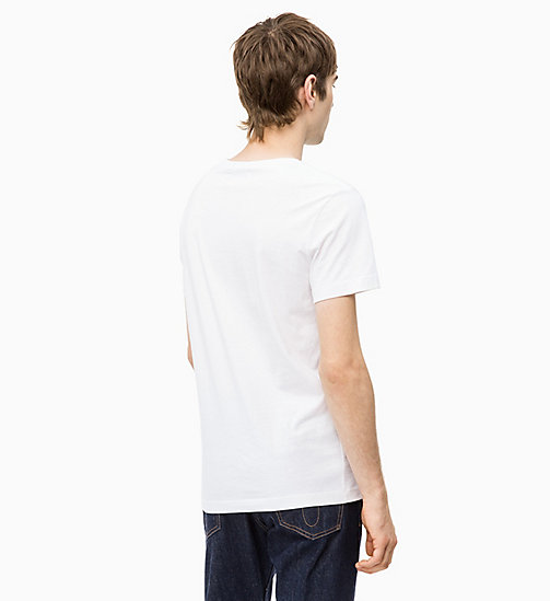 CALVIN KLEIN JEANS Slim Fit T-Shirt aus Bio-Baumwolle - BRIGHT WHITE - CALVIN KLEIN JEANS PACK YOUR BAG - main image 1