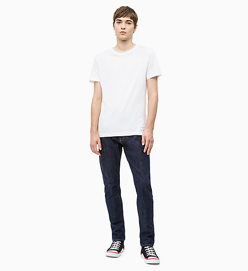 CALVIN KLEIN JEANS Slim Organic Cotton T-shirt - BRIGHT WHITE - CALVIN KLEIN JEANS PACK YOUR BAG - detail image 1