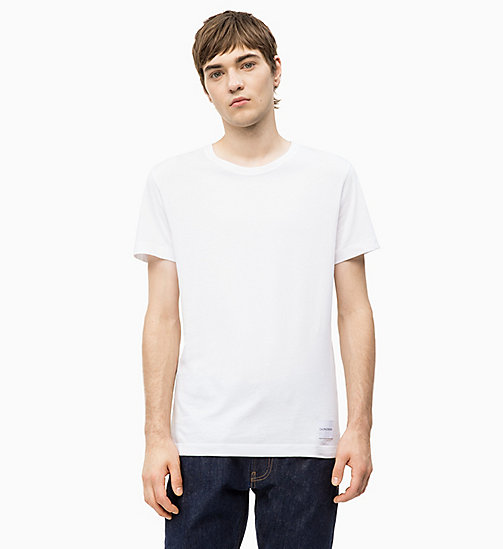 CALVIN KLEIN JEANS Slim Fit T-Shirt aus Bio-Baumwolle - BRIGHT WHITE - CALVIN KLEIN JEANS PACK YOUR BAG - main image