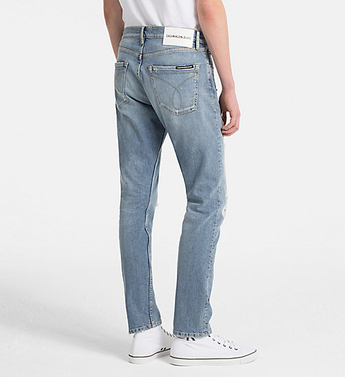 CALVIN KLEIN JEANS CKJ 056 Athletic Tapered Jeans - CHOWDER BLUE (WAS LEGION HEAVY DESTRUCT) - CALVIN KLEIN JEANS NEW DENIM - detail image 1