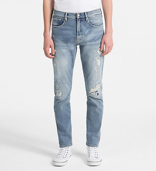 CALVIN KLEIN JEANS CKJ 056 Athletic Tapered Jeans - CHOWDER BLUE (WAS LEGION HEAVY DESTRUCT) - CALVIN KLEIN JEANS NEW DENIM - main image