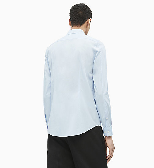CALVIN KLEIN JEANS Slim Cotton Stretch Shirt - CHAMBRAY BLUE - CALVIN KLEIN JEANS CLOTHES - detail image 1