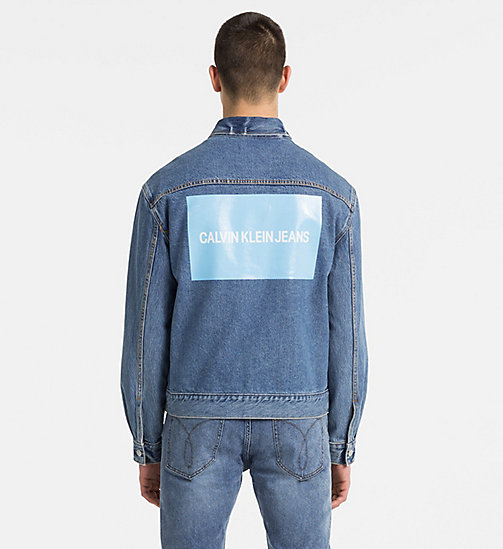 CALVIN KLEIN JEANS Logo Denim Trucker Jacket - LYON BLUE WITH PATCH - CALVIN KLEIN JEANS LOGO SHOP - detail image 1