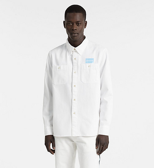 CALVIN KLEIN JEANS Denim Uniform Shirt - SUMMER WHITE - CALVIN KLEIN JEANS NEW IN - main image