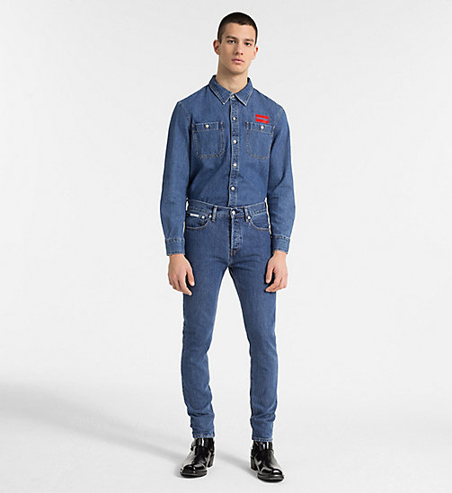 CALVIN KLEIN JEANS Denim Uniform Shirt - MID STONE - CALVIN KLEIN JEANS NEW IN - detail image 1