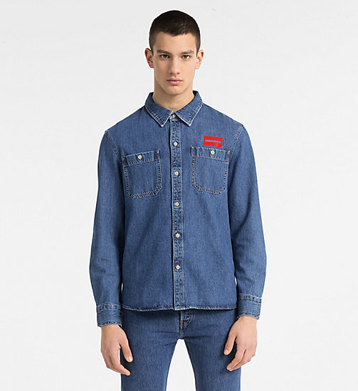 CALVIN KLEIN JEANS Denim Uniform Shirt - MID STONE - CALVIN KLEIN JEANS NEW IN - main image